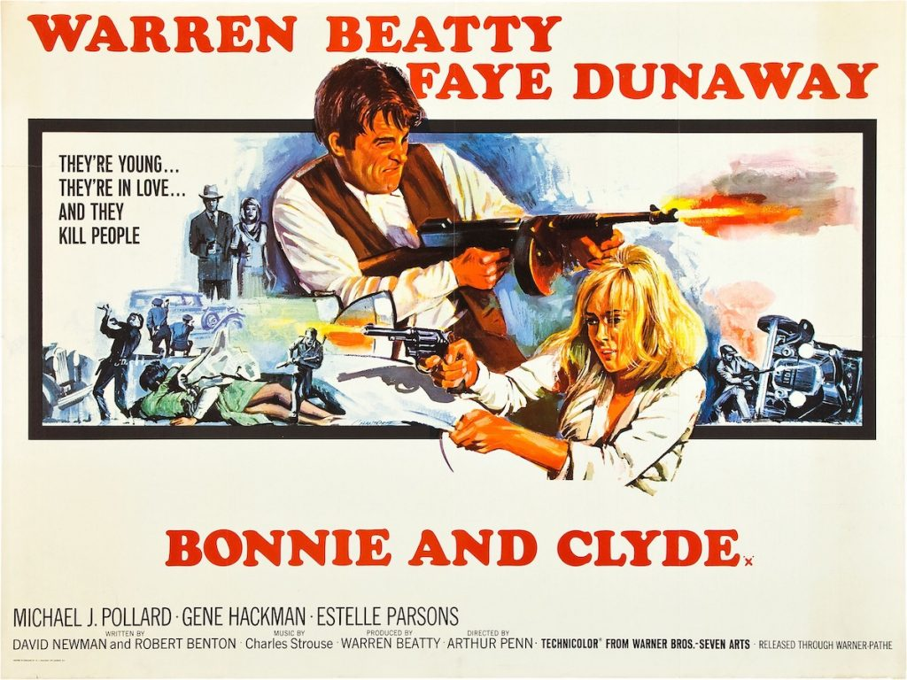 Bonnie And Clyde, poster, from left: Warren Beatty, Faye Dunaway | LMPC via Getty Images
