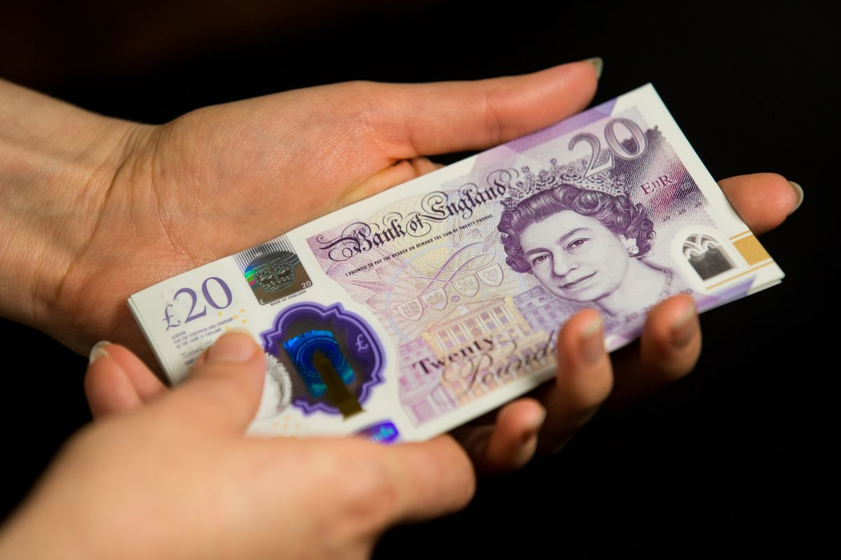 Banknotes from the Bank of England