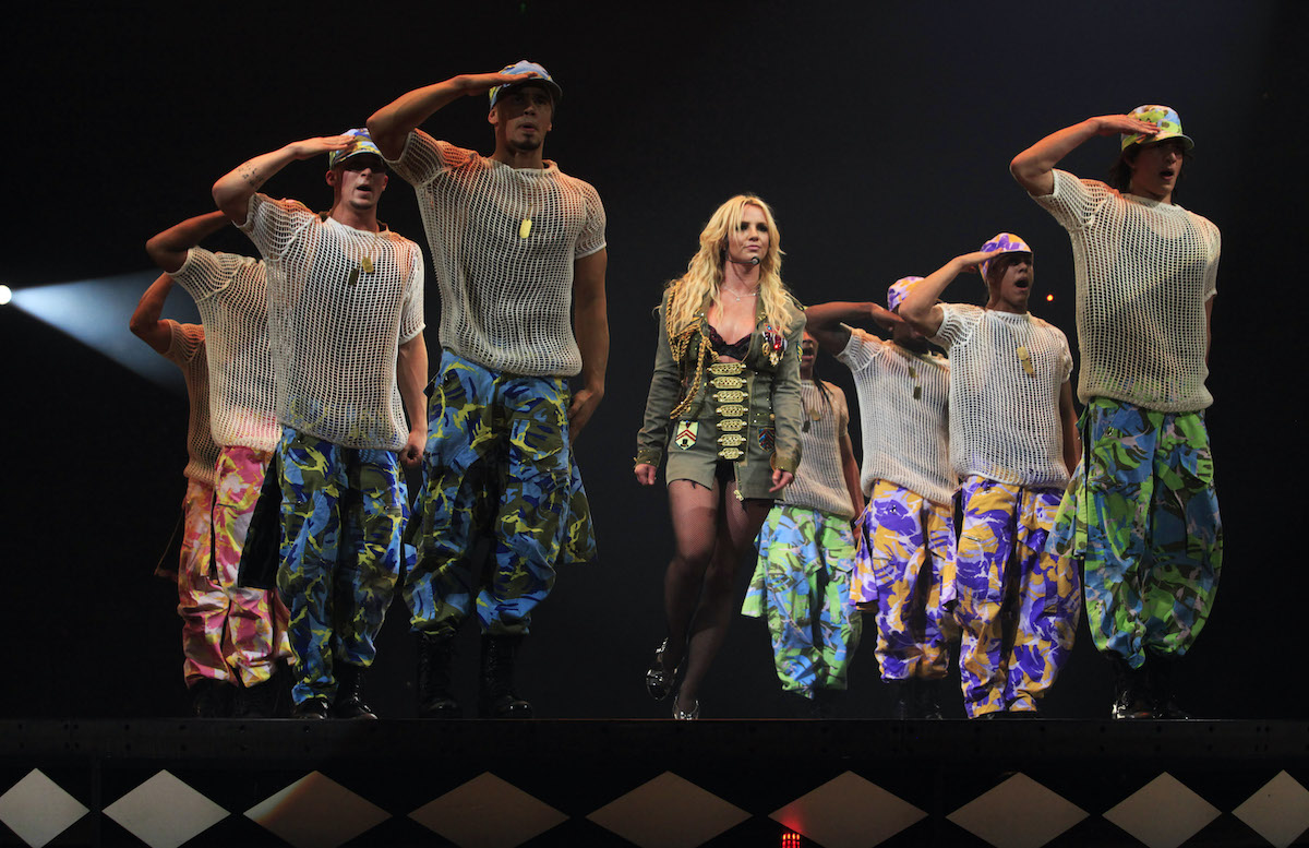 """Britney Spears performs during """"The Circus Starring Britney Spears"""" tour"""