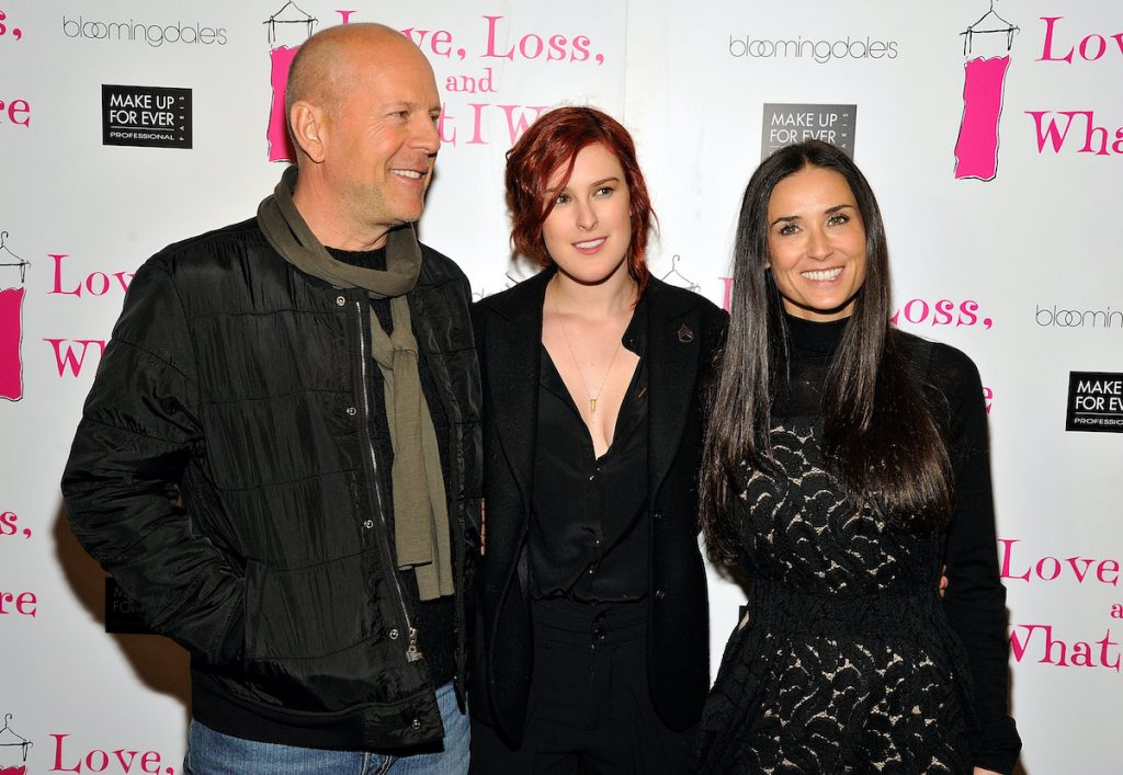 Bruce Willis and Demi Moore with Rumer Willis