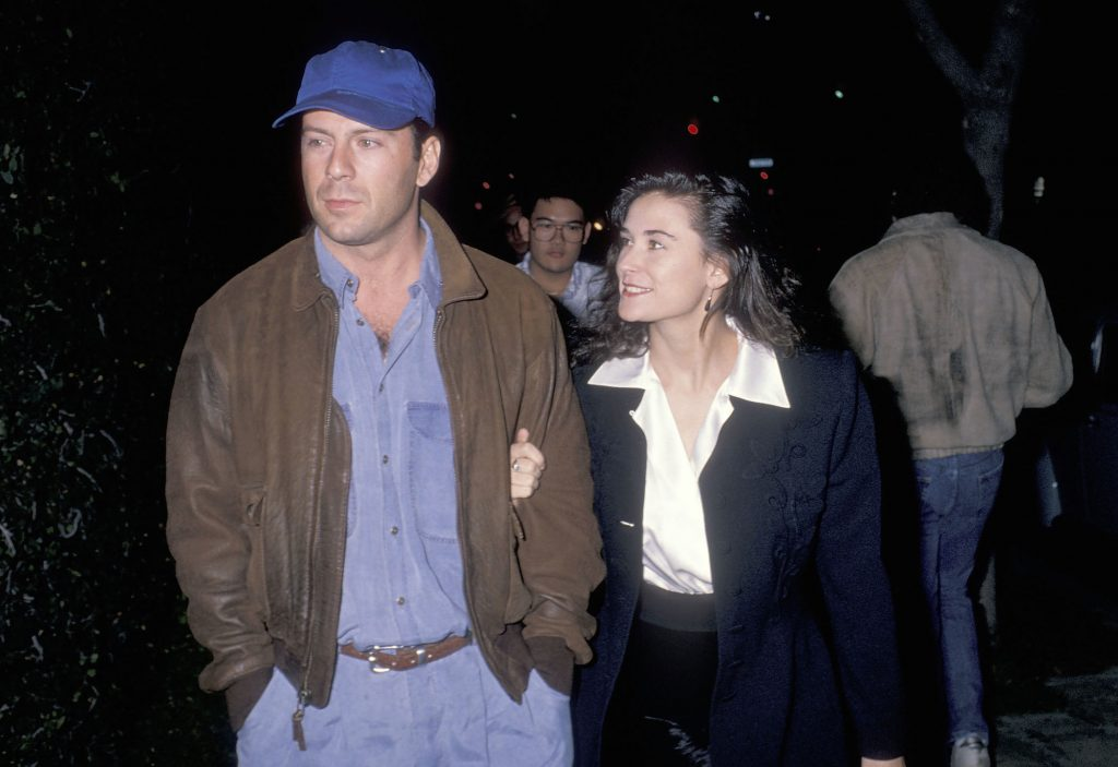 Bruce Willis and actor Demi Moore in 1988