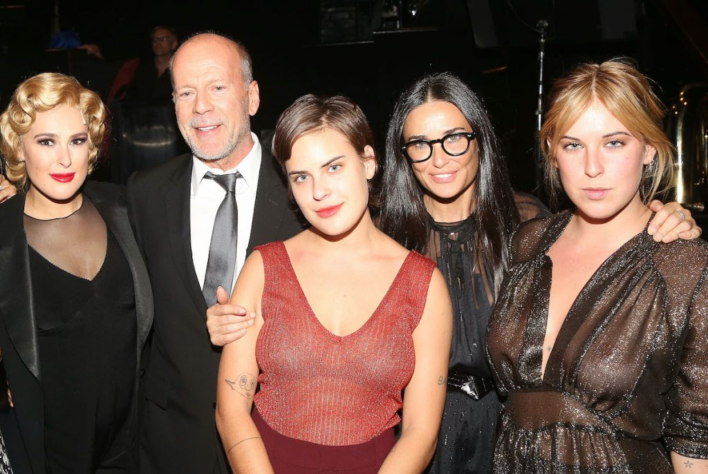 Bruce Willis, Demi Moore, and their three daughters, Rumer, Scout, and Tallulah