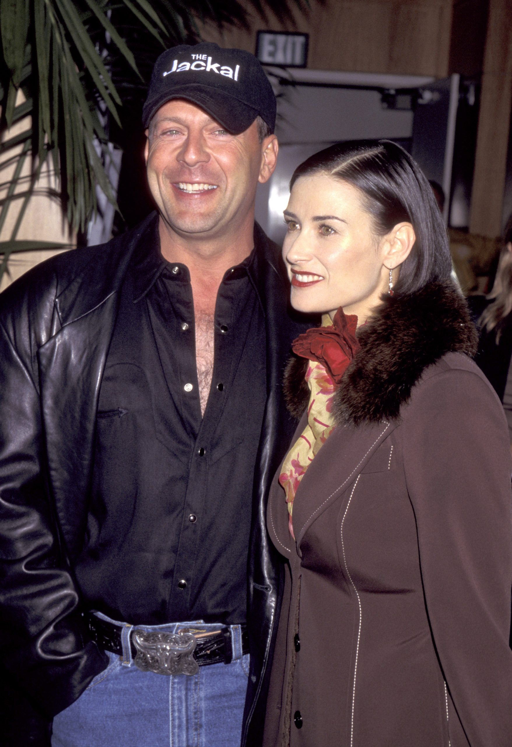 """Bruce Willis and Demi Moore during """"The Jackal"""" Premiere at The Academy in Beverly Hills, California, United States."""
