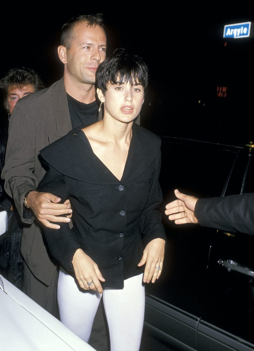 Bruce Willis and Demi Moore in 1989 at The China Club, Hollywood, California