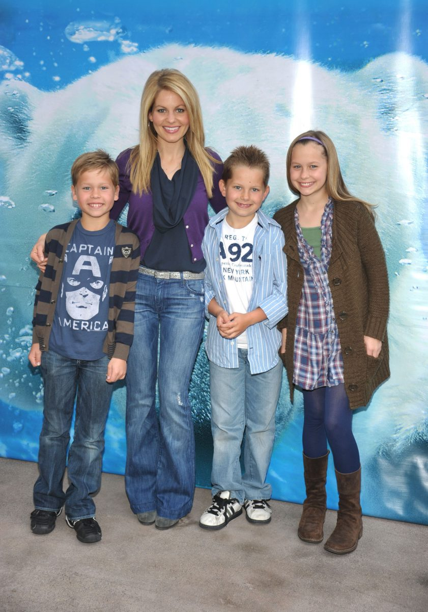 Candace Cameron Bure and her children