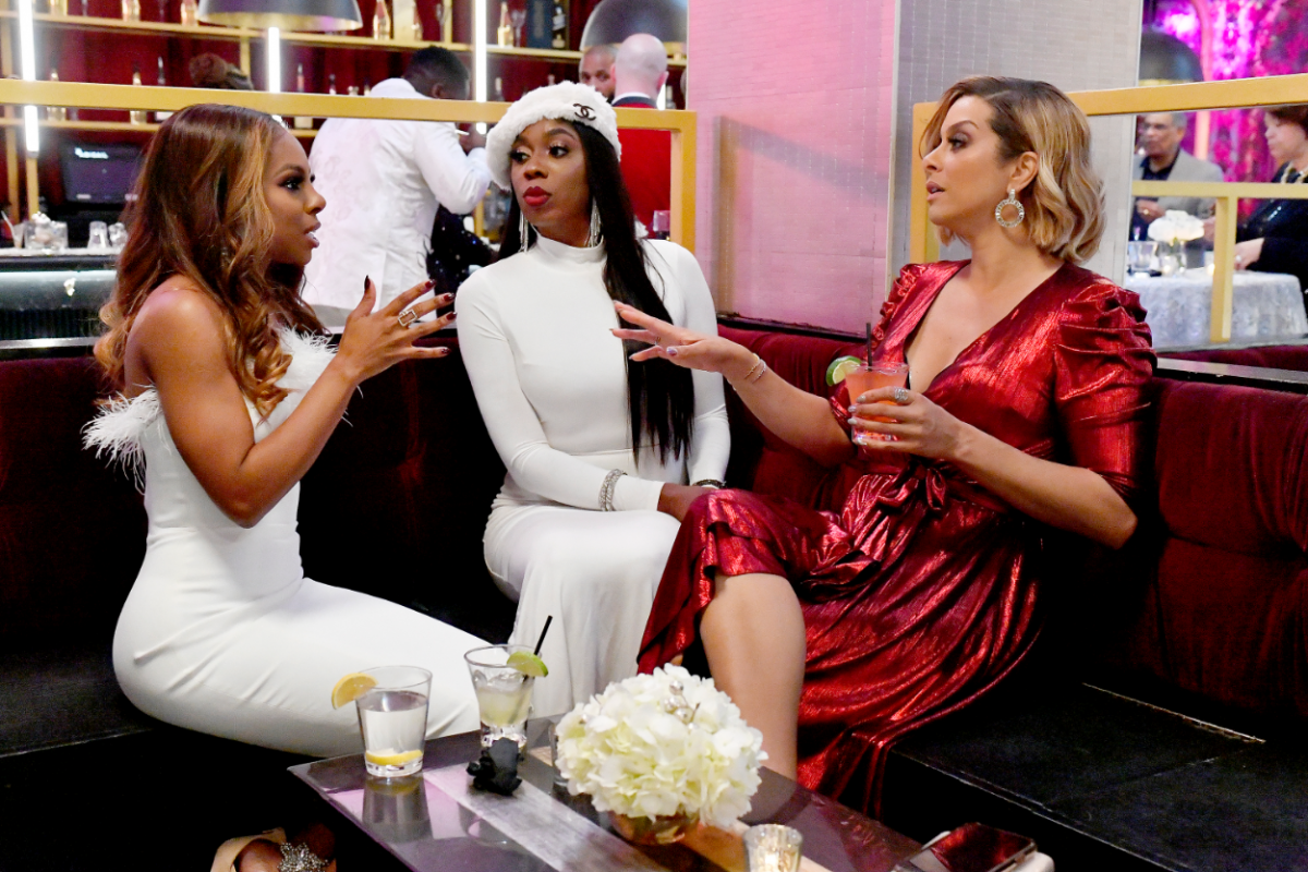 'The Real Housewives of Potomac' -- Pictured: (l-r) Candiace Dillard, Wendy Osefo, Robyn Dixon