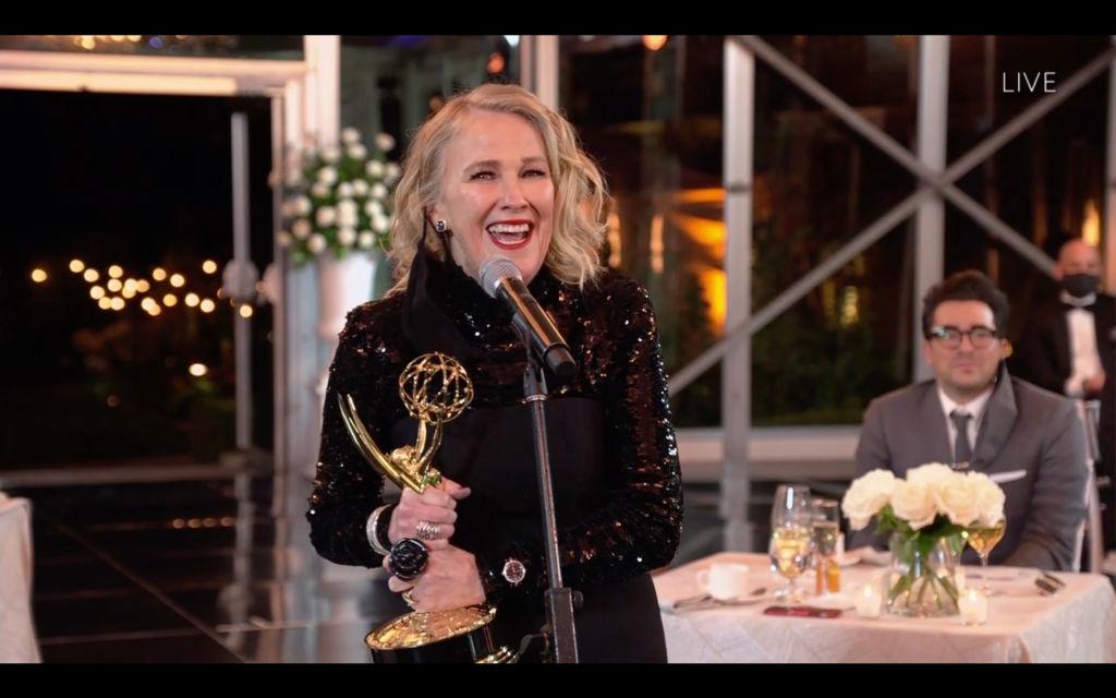 Catherine O'Hara winning for Schitt's Creek on Emmys
