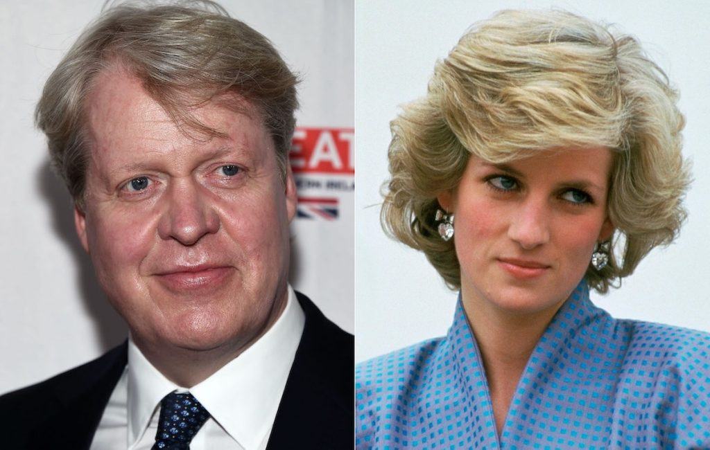 Charles Spencer (left) and Princess Diana (right)   Amanda Edwards/WireImage/Tim Graham Photo Library via Getty Images