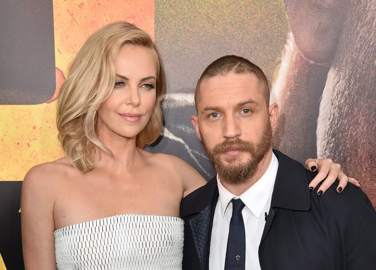 Charlize Theron and Tom Hardy at the premiere of 'Mad Max: Fury Road'