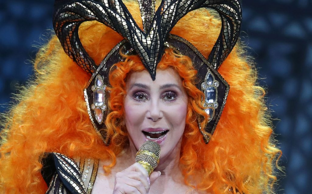Cher performs during her Here We Go Again Tour at Rod Laver Arena