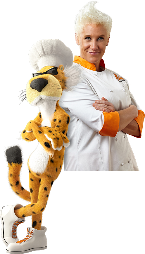 Chester Cheetah® and Chef Anne Burrell