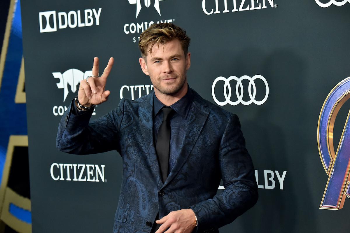 Chris Hemsworth at the 'Avengers: Endgame' world premiere