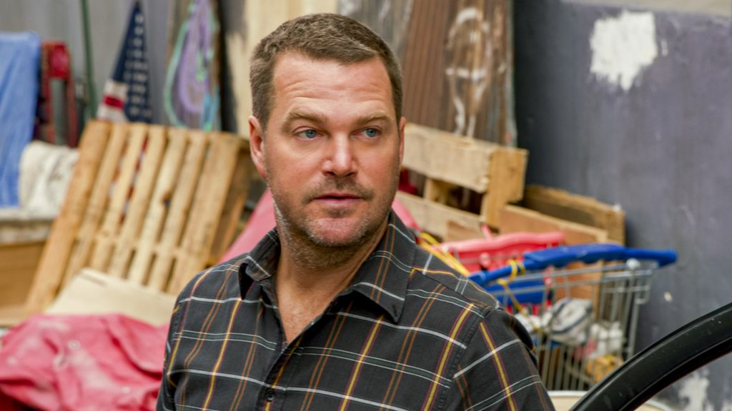 Chris O'Donnell on the set of NCIS: Los Angeles |  CBS via Getty Images