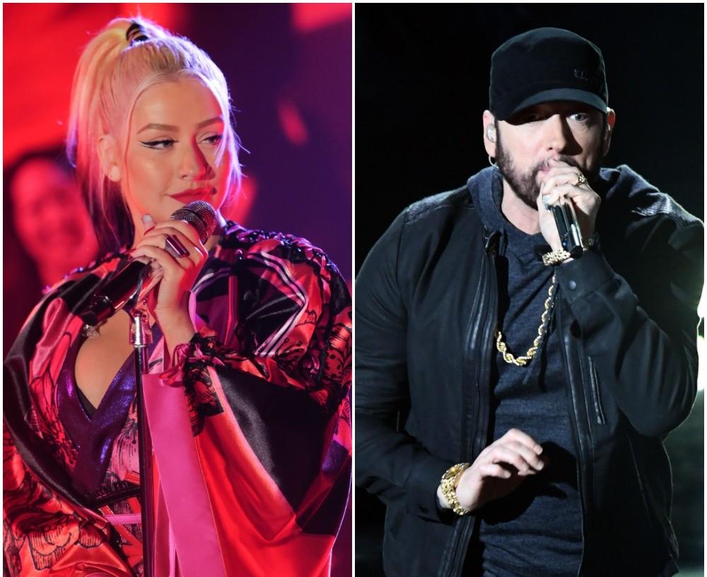 Christina Aguilera and Eminem