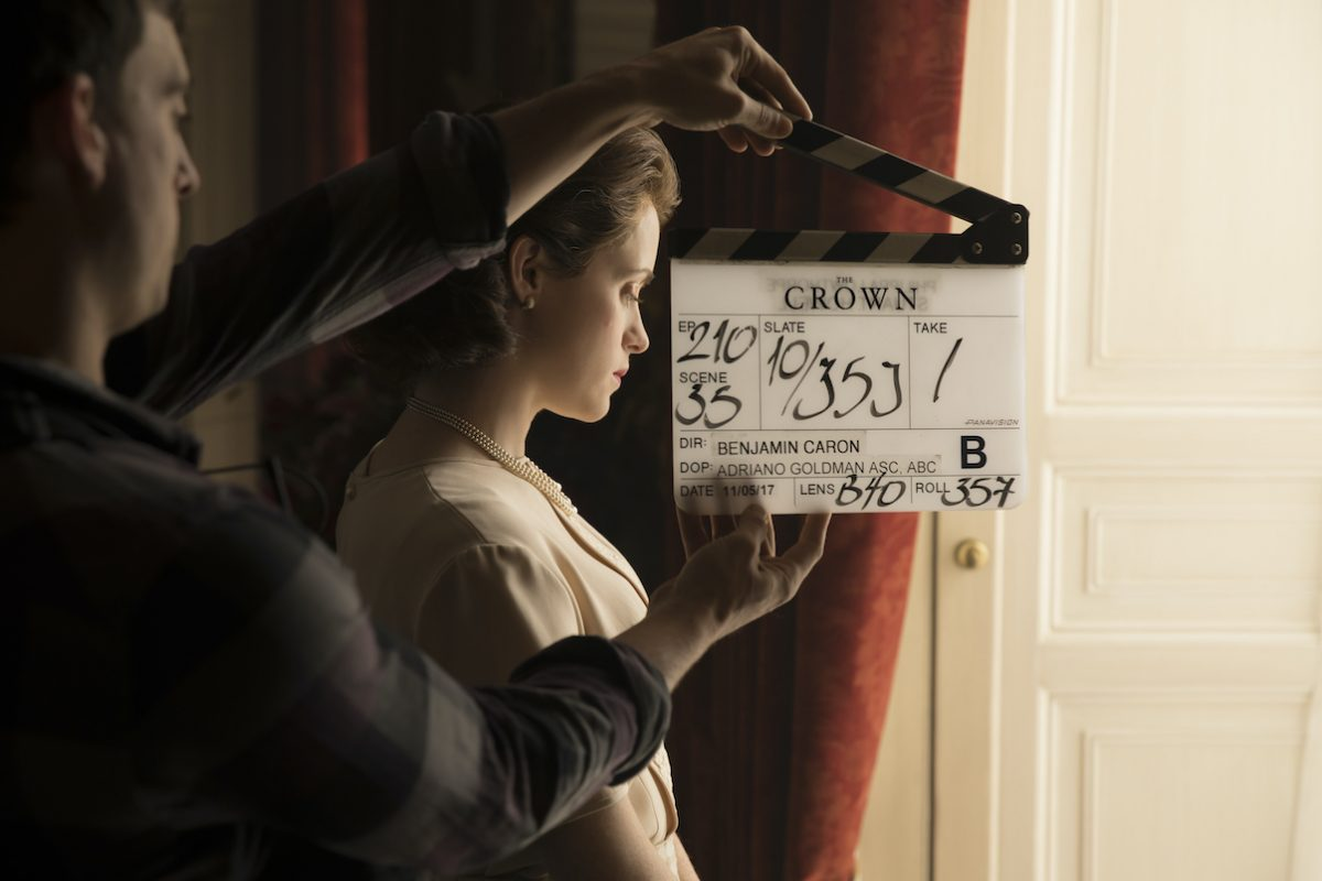 Claire Foy films 'The Crown' Season 2
