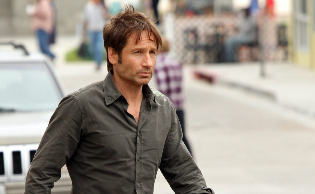 "David Duchovny is seen on the set of ""Californication"""