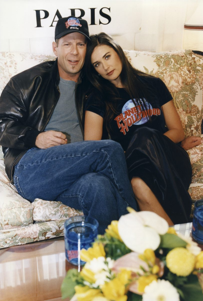 Demi Moore and Bruce Willis in 1995