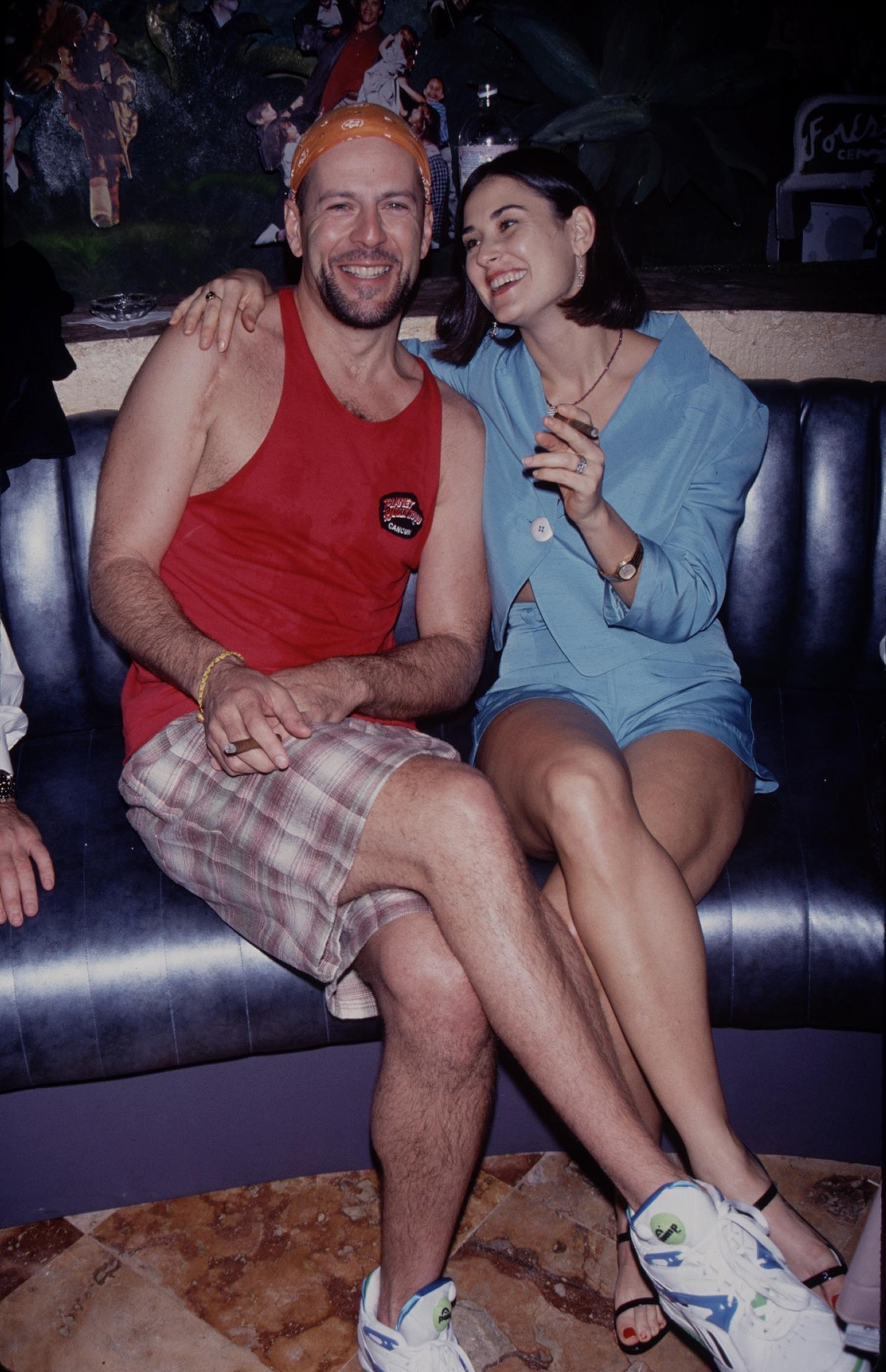 UNITED STATES - Demi Moore and Bruce Willis, circa 1995.