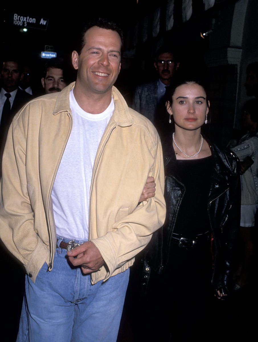 Bruce Willis and actress Demi Moore in 1989