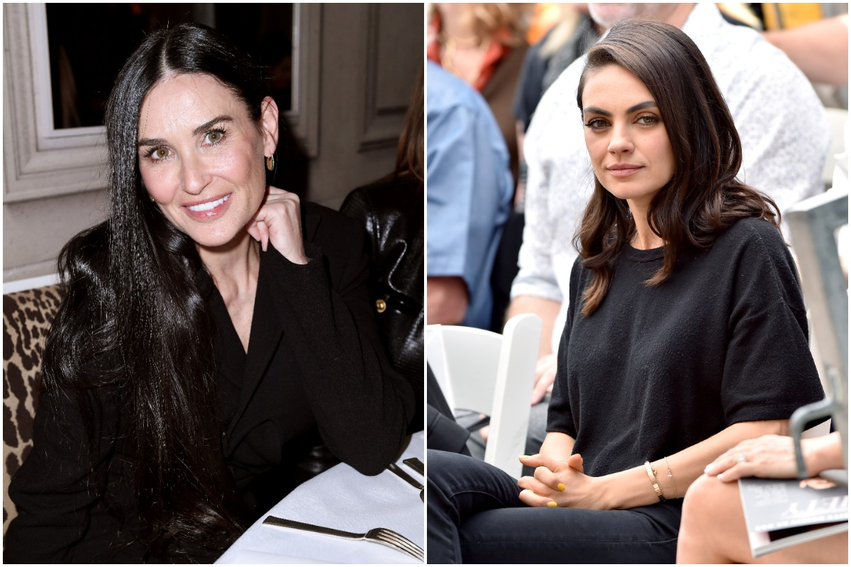 Demi Moore attends the Monot show as part of the Paris Fashion Week Womenswear Fall/Winter 2020/2021/ Mila Kunis attends the ceremony honoring Seth MacFarlane with Star on the Hollywood Walk of Fame on April 23, 2019 in Hollywood, California. on February 29, 2020 in Paris, France./
