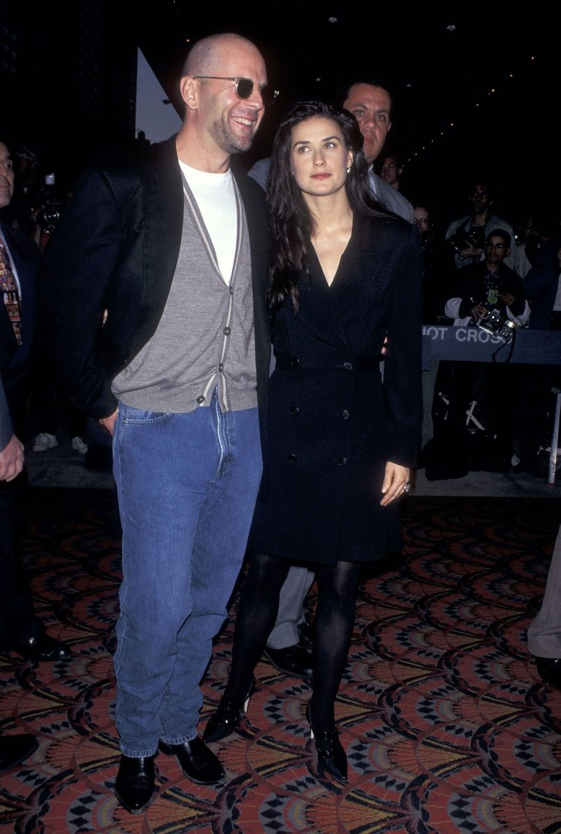 """Bruce Willis and actress Demi Moore attend the """"Die Hard: With a Vengeance"""" New York City Premiere on May 15, 1995"""