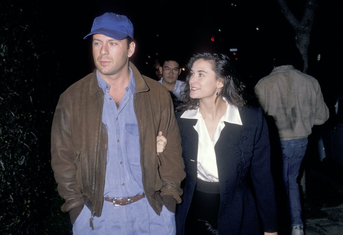 Bruce Willis and Demi Moore in 1988