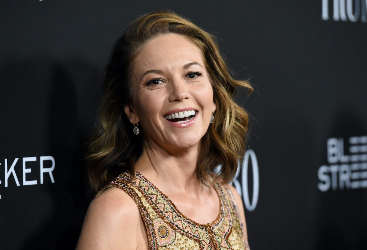 Diane Lane poses for photographers at the premiere of 'Trumbo'