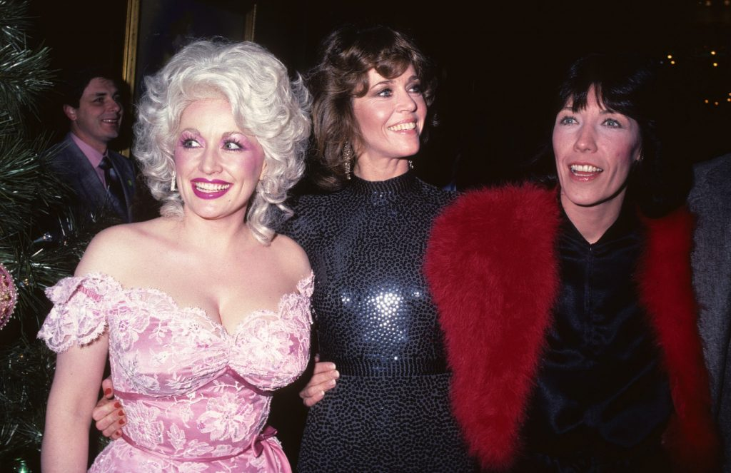 Dolly Parton, Jane Fonda, and Lily Tomlin at the film premiere of '9 to 5'