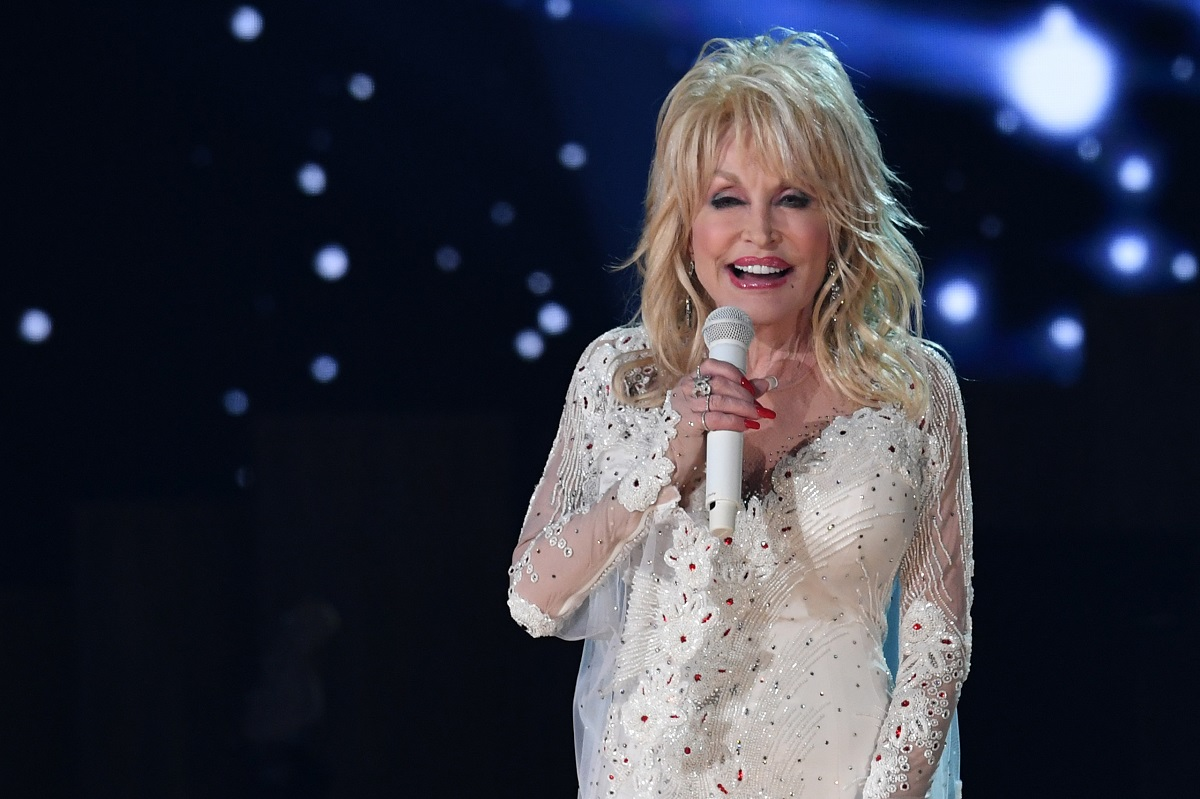 Dolly Parton during the 61st Grammy Awards