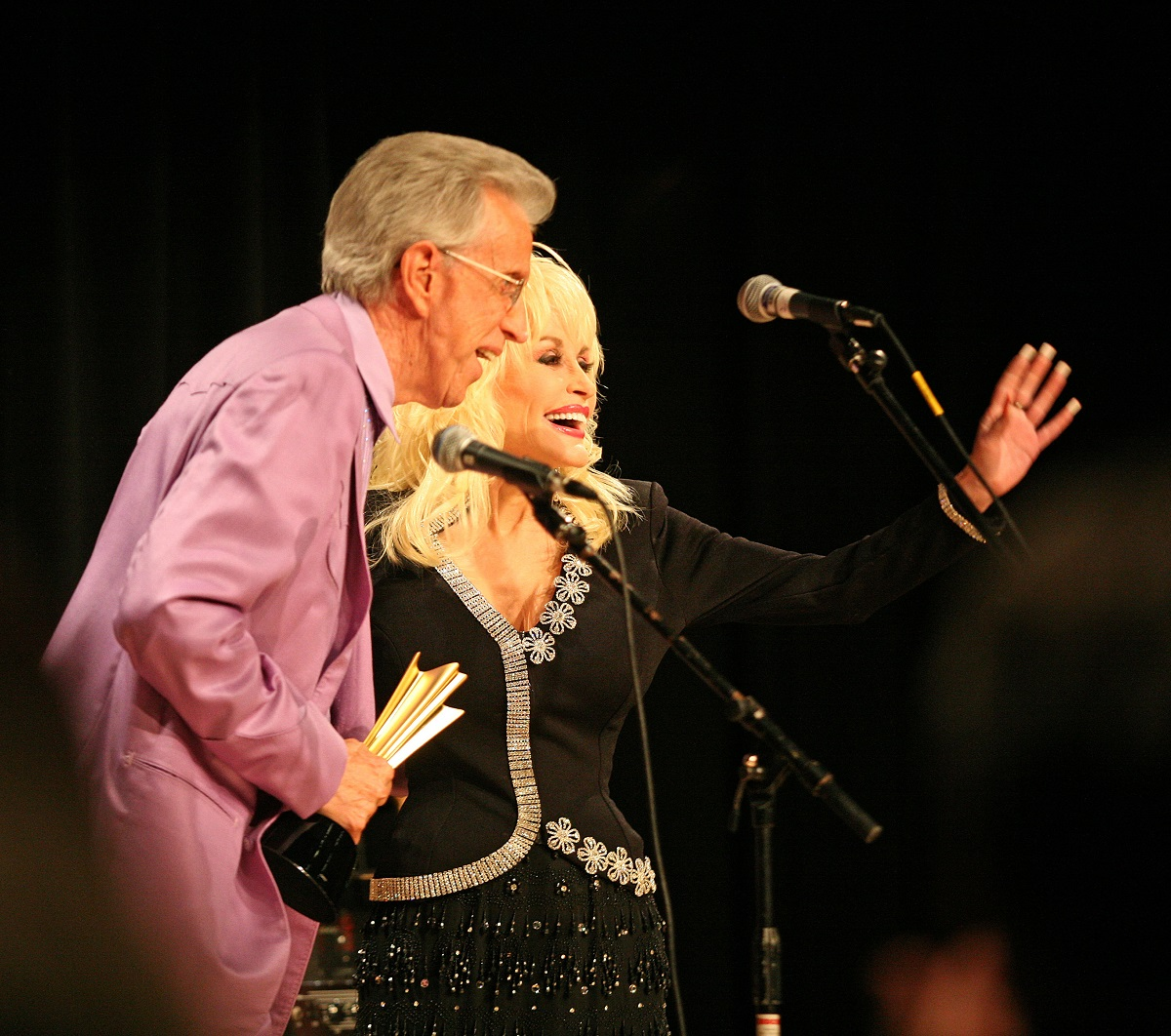 Porter Wagoner and Dolly Parton in 2007