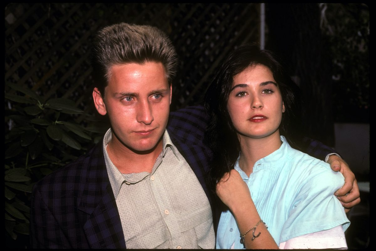 Demi Moore with Emilio Estevez in New York City