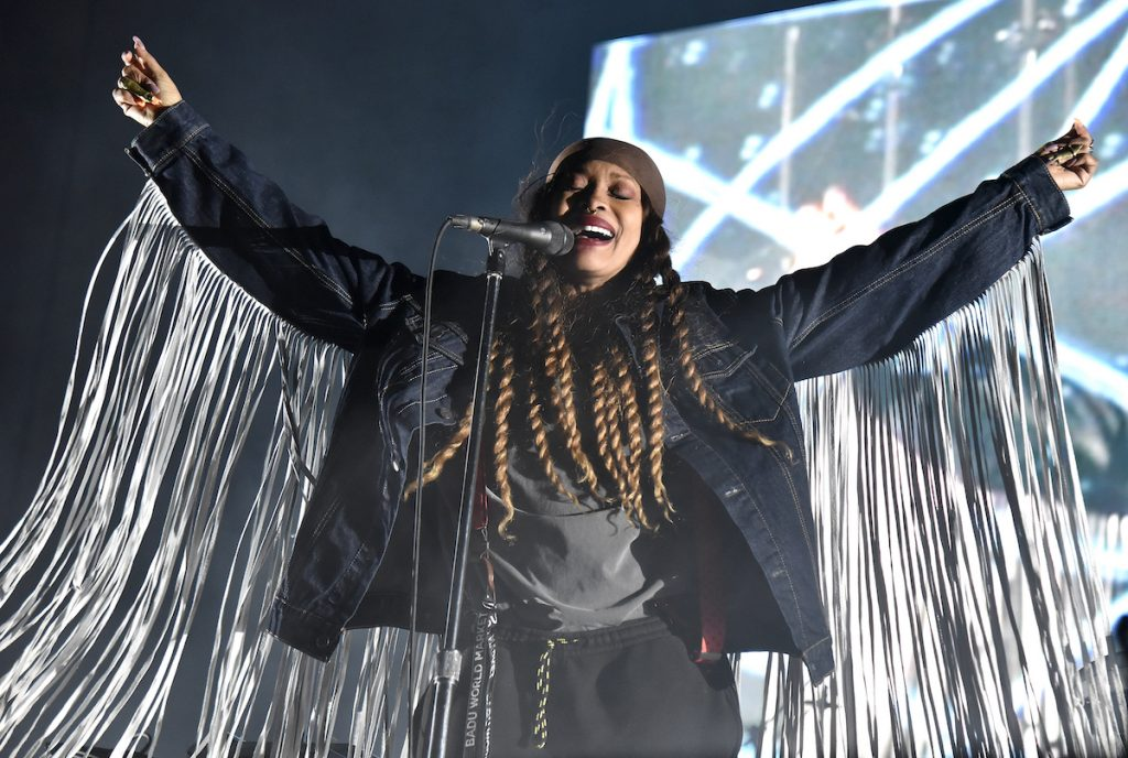 Erykah Badu performs during the Black on Both Sides 20th Anniversary concert at The Greek Theatre on October 25, 2019 in Berkeley, California | Tim Mosenfelder/Getty Images
