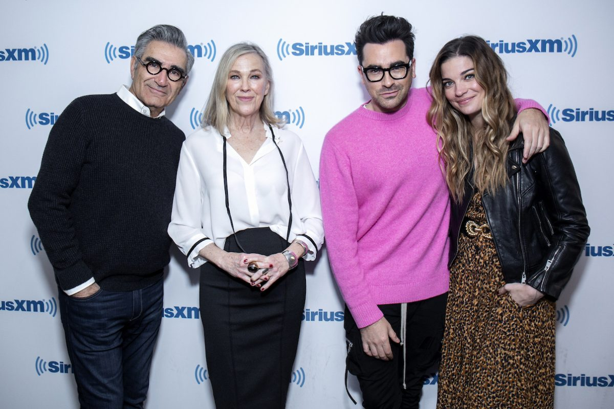 Eugene Levy, Catherine O'Hara, Dan Levy, and Annie Murphy visit SiriusXM Studios