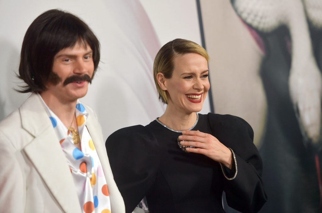 Evan Peters and Sarah Paulson attend FX's 'American Horror Story' 100th Episode Celebration