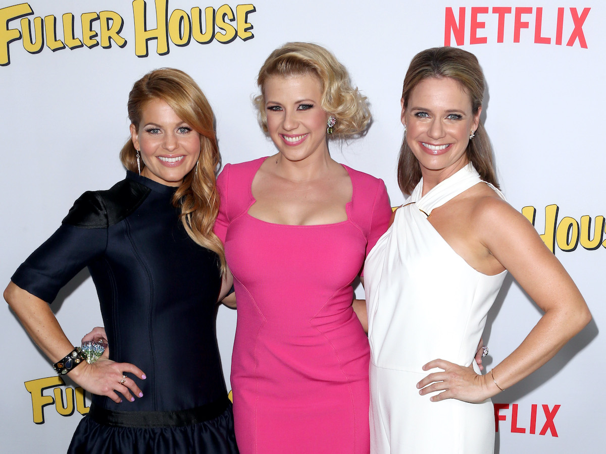 Candace Cameron Bure, Jodie Sweetin, and Andrea Barber at the 'Fuller House' premiere