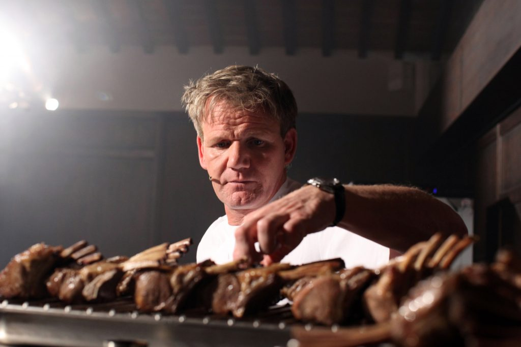 ordon Ramsay holds a cooking class at the Castel Monastero Resort on July 5, 2012
