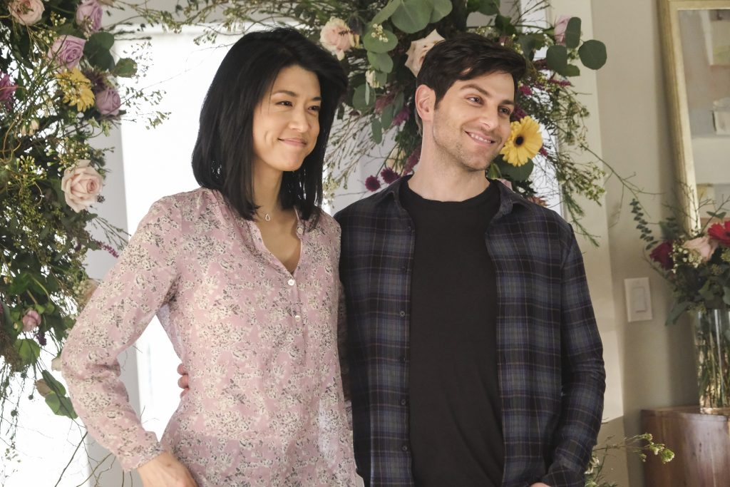 'A Million Little Things' Grace Park and David Giuntoli as Katherine and Eddie