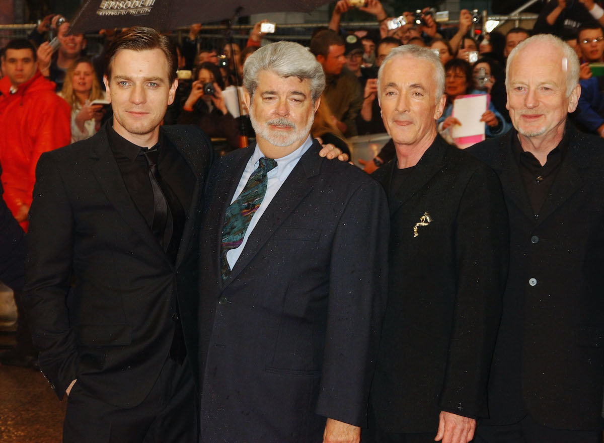 Ewan McGregor, George Lucas, Anthony Daniels, and Ian McDiarmid at the U.K. premiere of 'Star Wars: Episode III -- Revenge Of The Sith'