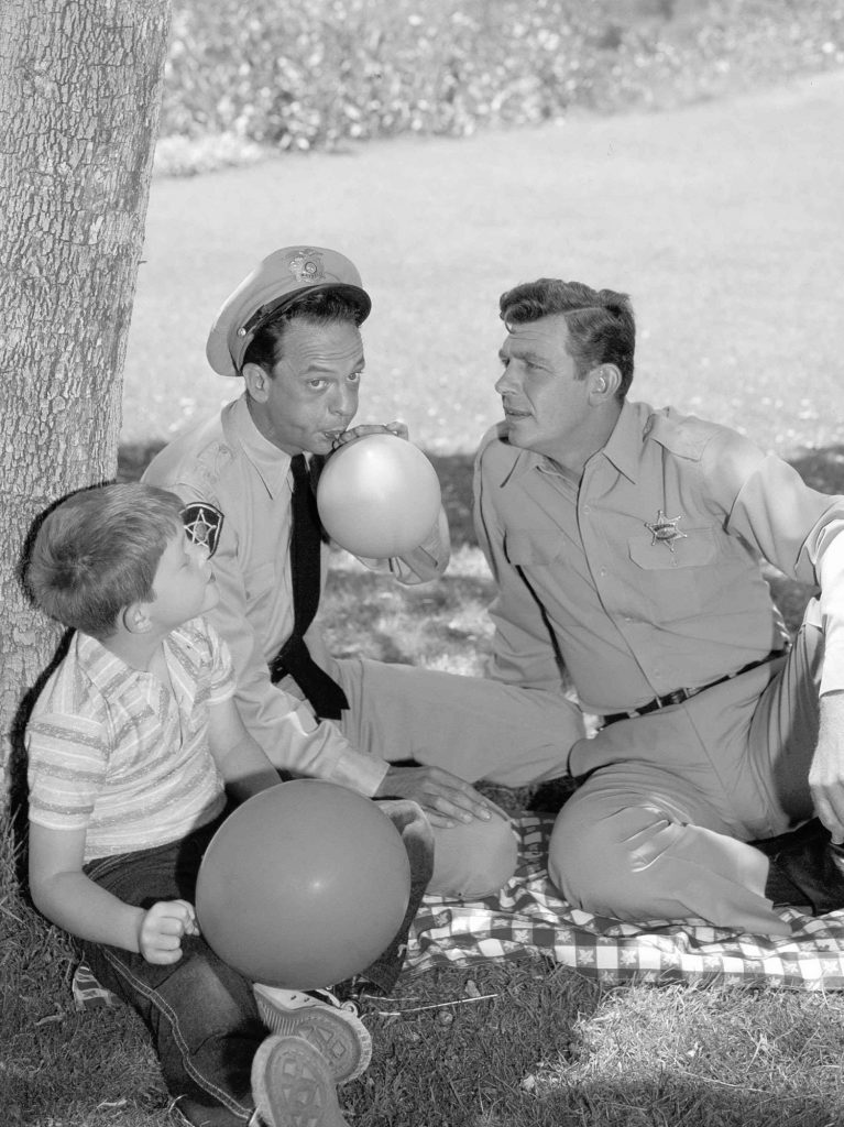'The Andy Griffith Show' stars Ron Howard, Don Knotts, and Andy Griffith