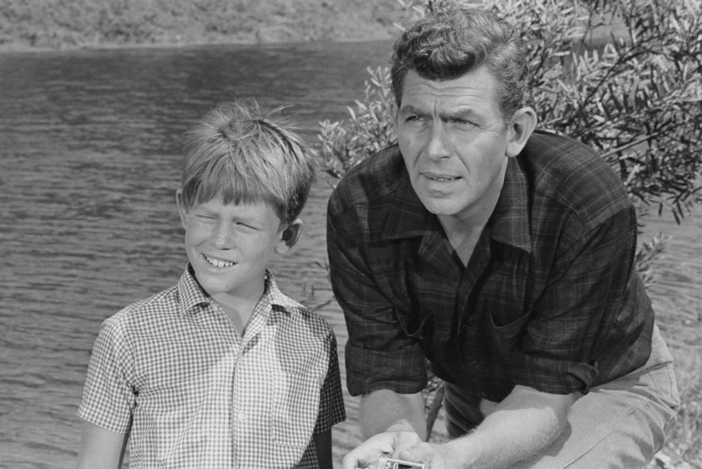 Ron Howard, left, and Andy Griffith in a scene from 'The Andy Griffith Show'