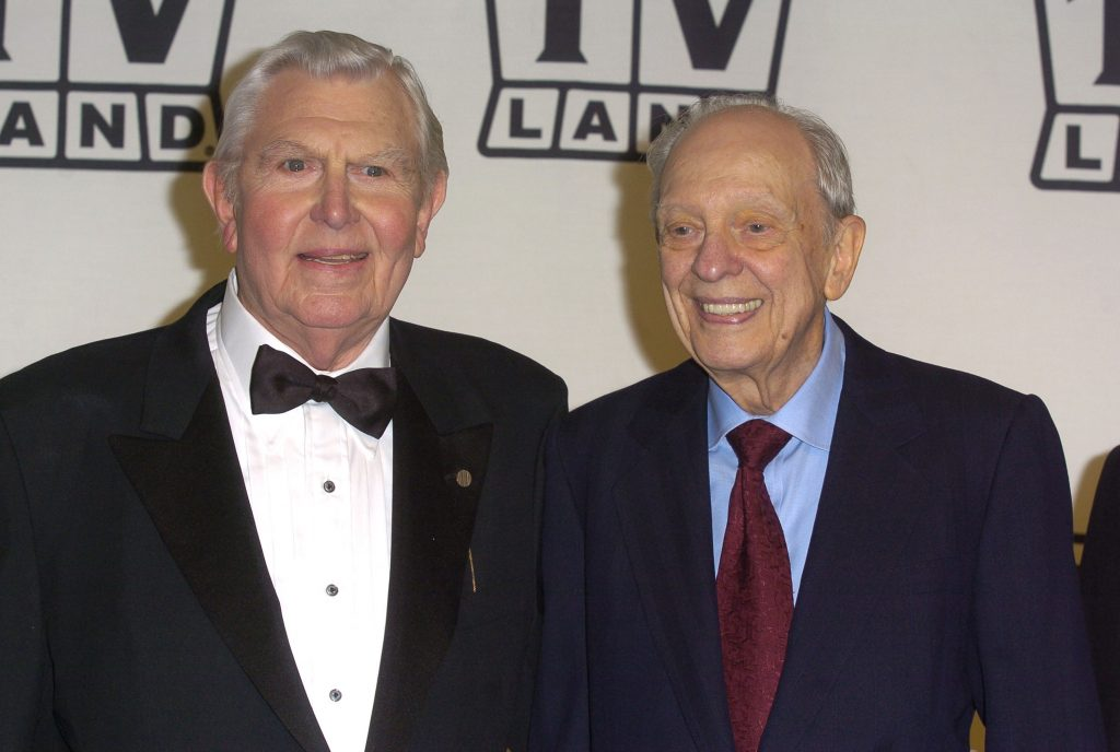 Andy Griffith, left, and Don Knotts in 2004