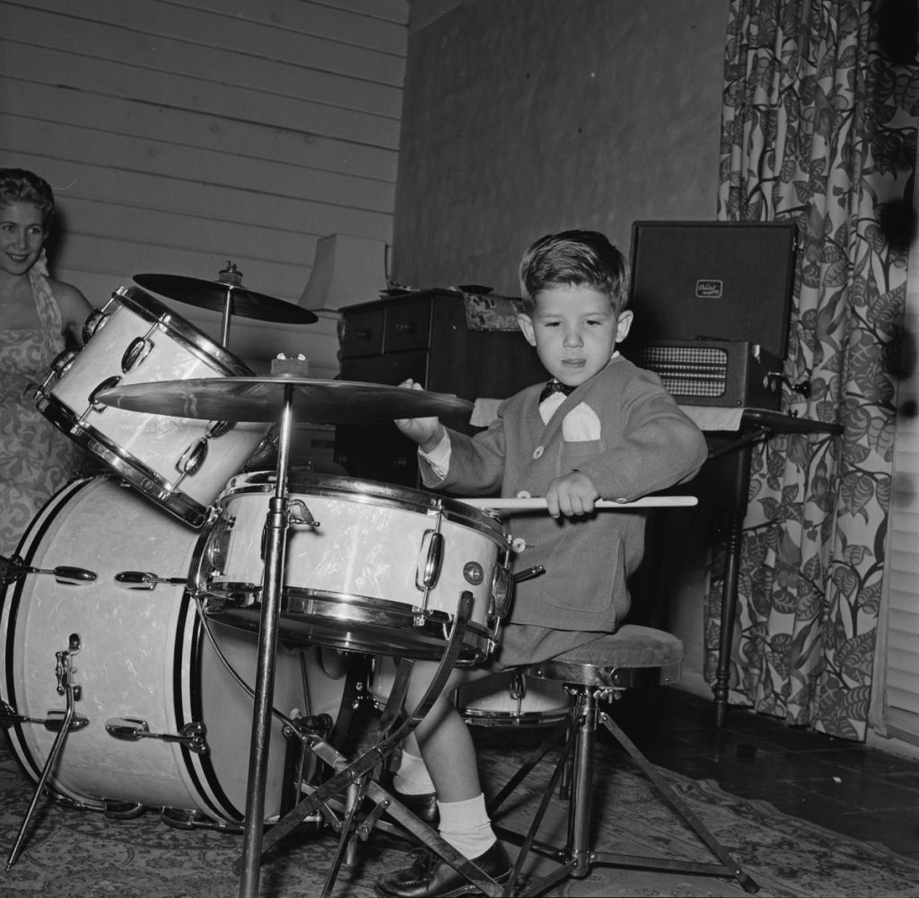 Keith Thibodeaux has been drumming from a very young age, pictured here in 1955