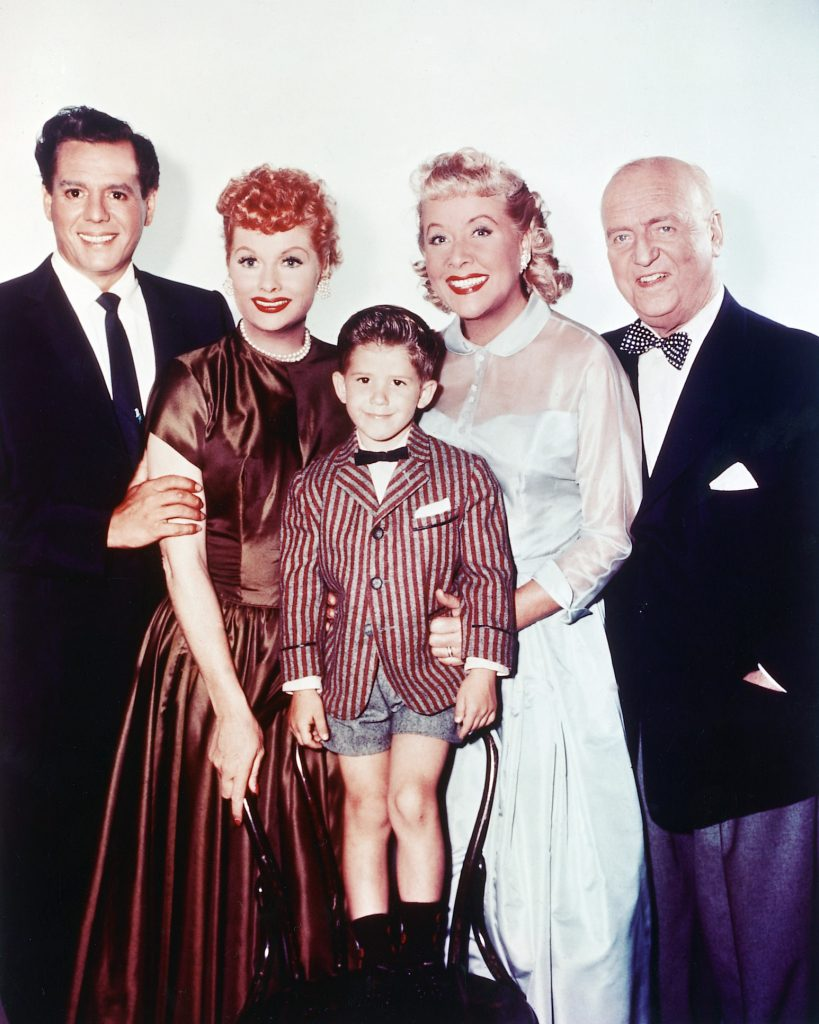 Keith Thibodeaux, center, with the cast of 'I Love Lucy', 1955