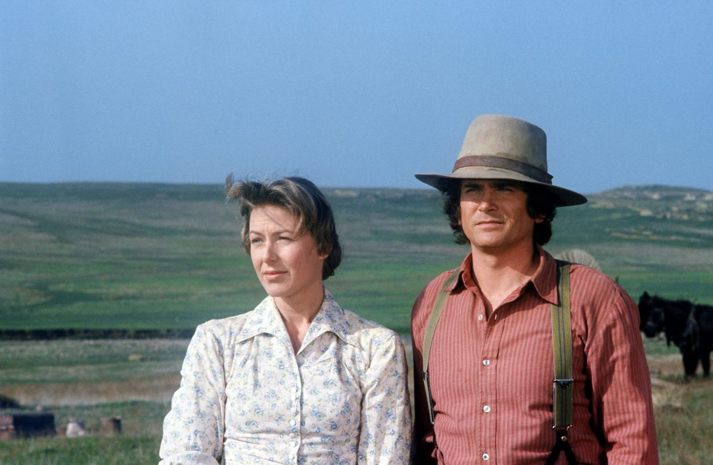 Karen Grassle and Michael Landon as Caroline and Charles Ingalls on 'Little House on the Prairie', 1974