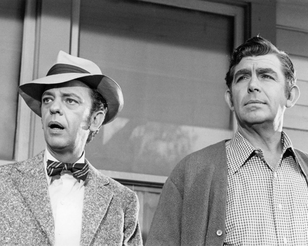 Don Knotts and Andy Griffith