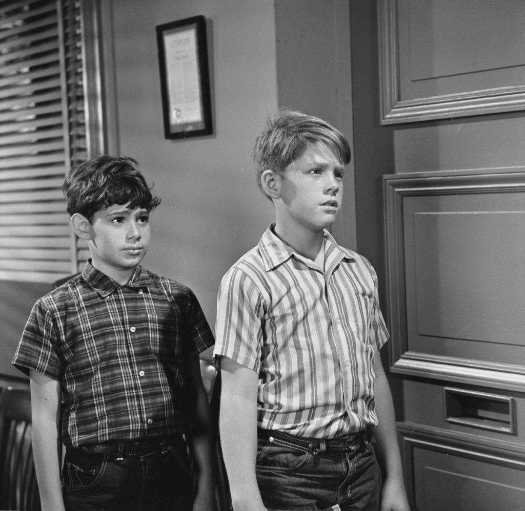 Sheldon Golomb as Arnold, left, and Ron Howard as Opie in a scene from 'The Andy Griffith Show'