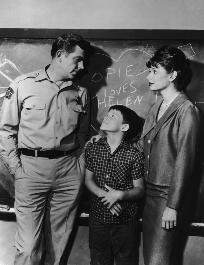 Andy Griffith, Ron Howard, and Aneta Corsaut from 'The Andy Griffith Show'