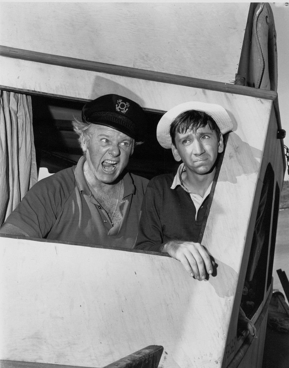 Alan Hale Jr. and Bob Denver appear as The Skipper and Gilligan in 'Gilligan's Island'