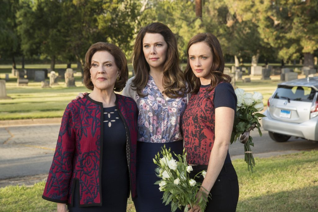 Kelly Bishop as Emily Gilmore, Lauren Graham as Lorelai Gilmore and Alexis Bledel as Rory Gilmore in 'Gilmore Girls: A Year in the Life'