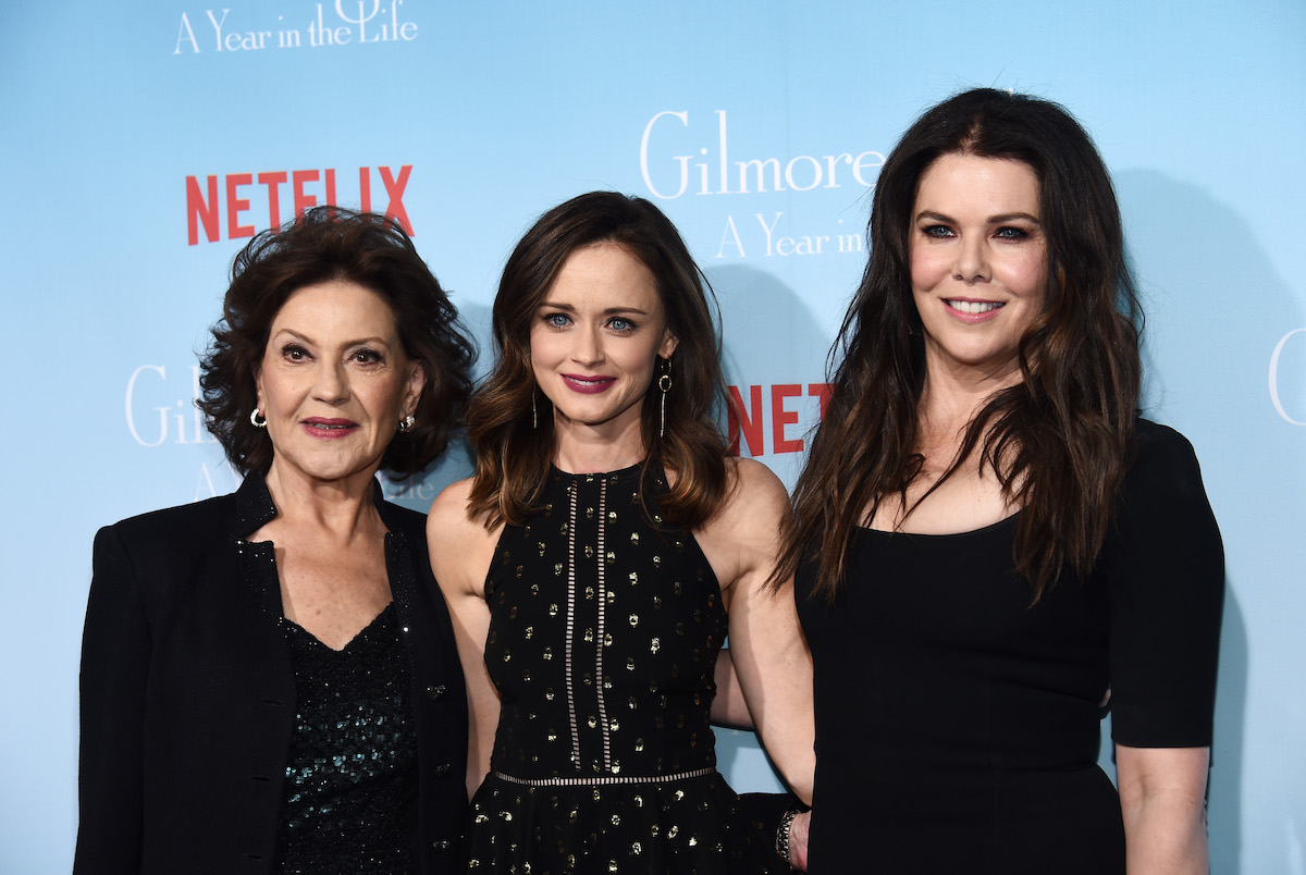 Kelly Bishop, Alexis Bledel, and Lauren Graham of 'Gilmore Girls'